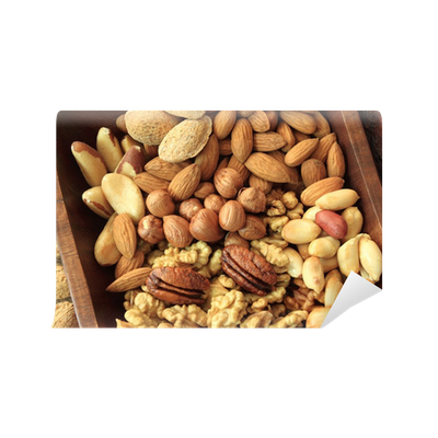Nuts transparent wall. Nut bowl mural pixers