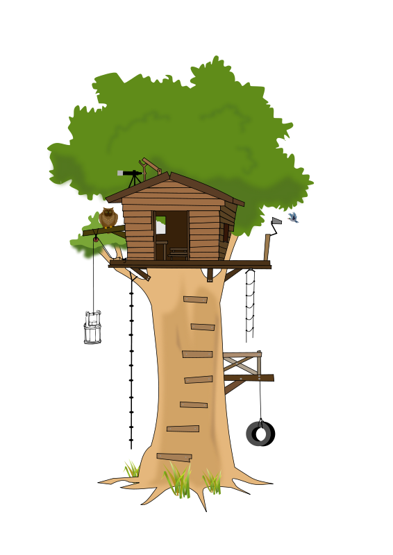 Oak clipart tree top. Free house cartoon clip