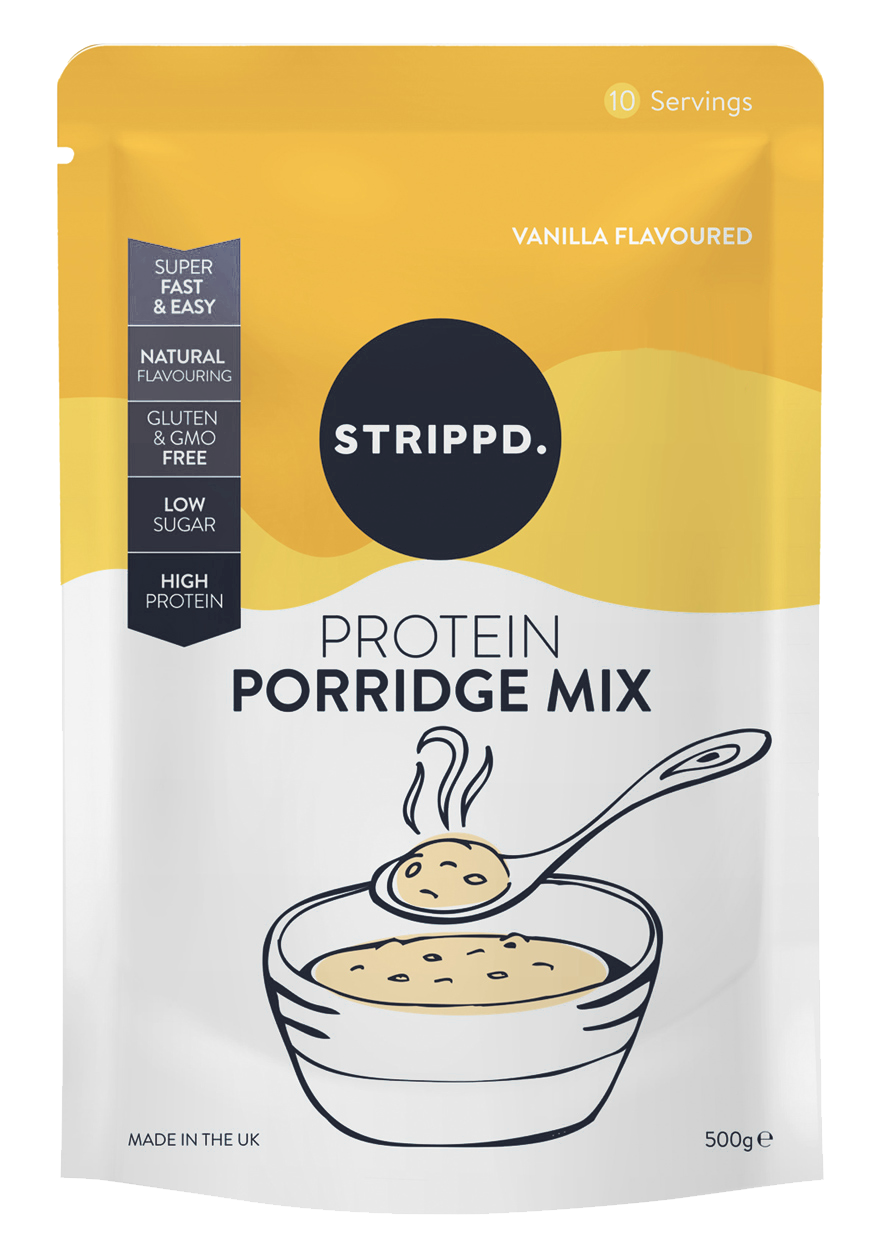 Bowl clipart porridge oats. Strippd protein mix limited
