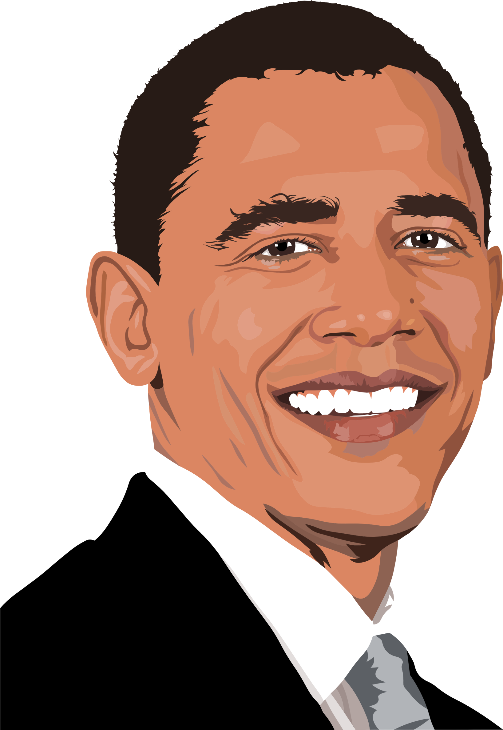 Obama crying png. Realistic barack portrait by