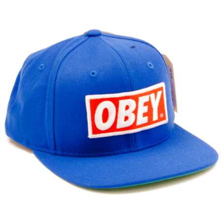 Obey hat png. Original blue on the