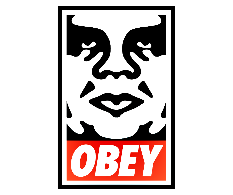 Obey sticker png. Logo symbol meaning history