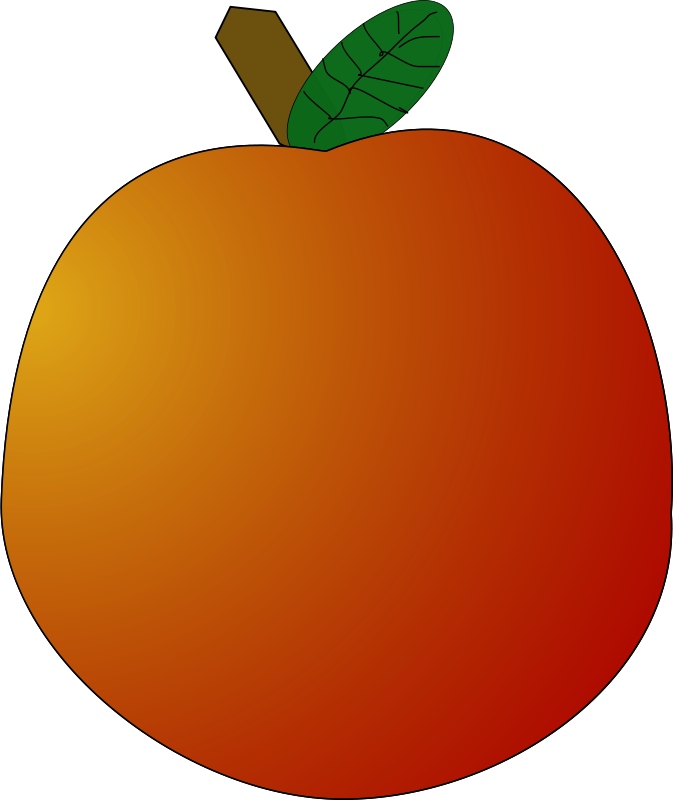 Oblong apple. Free clipart page freedownloads