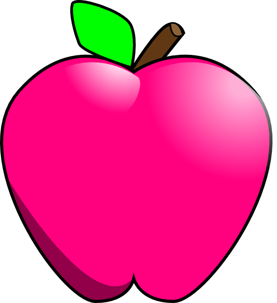 Oblong apple. Pink lady cliparts zone