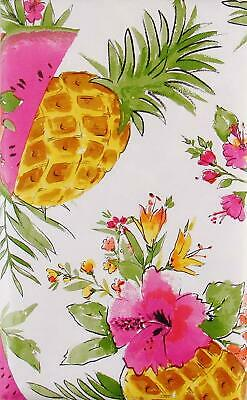 Oblong pineapple. Pineapples watermelon tropical flowers