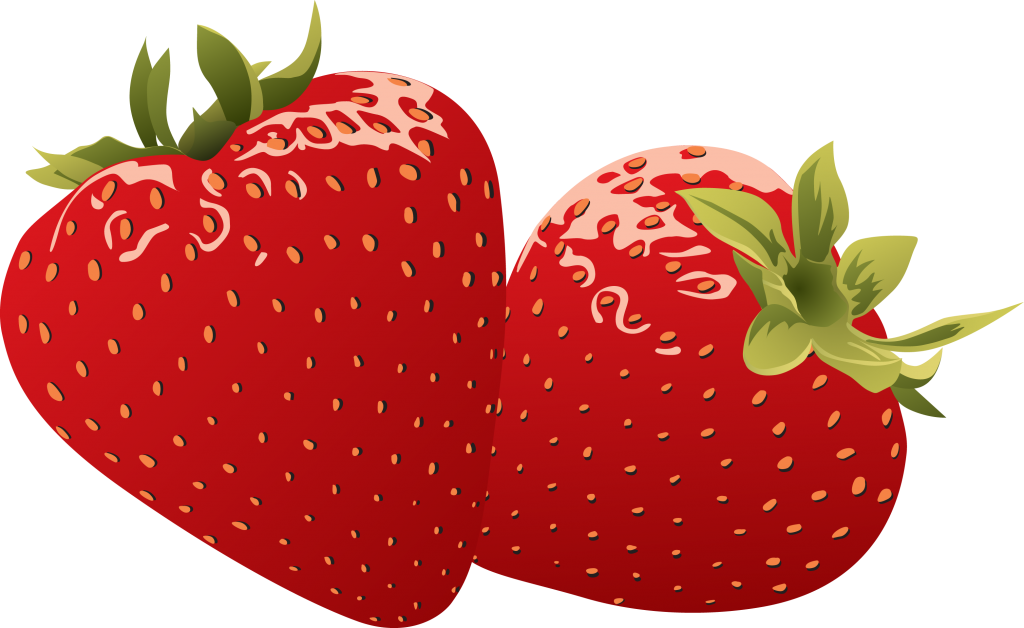 Heart strawberry. Shapes clipart transparent