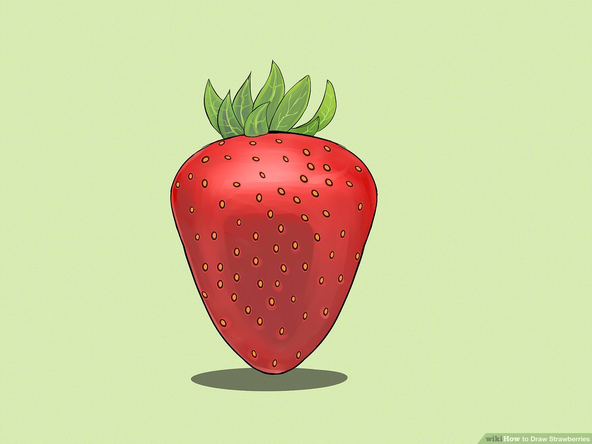 Oblong strawberry. How to draw strawberries
