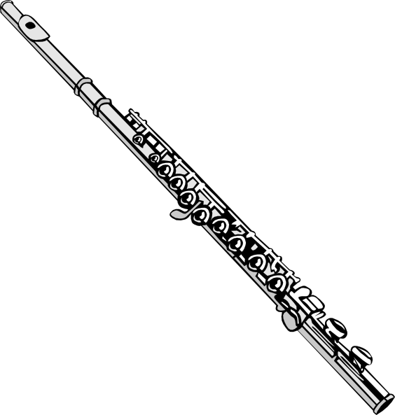 Collection of free floyte. Oboe drawing jpg black and white download