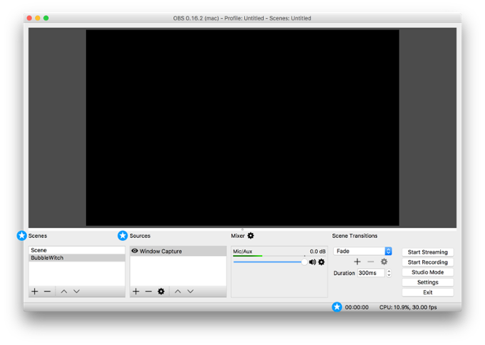 Obs transparent stream. Using with reflector squirrels