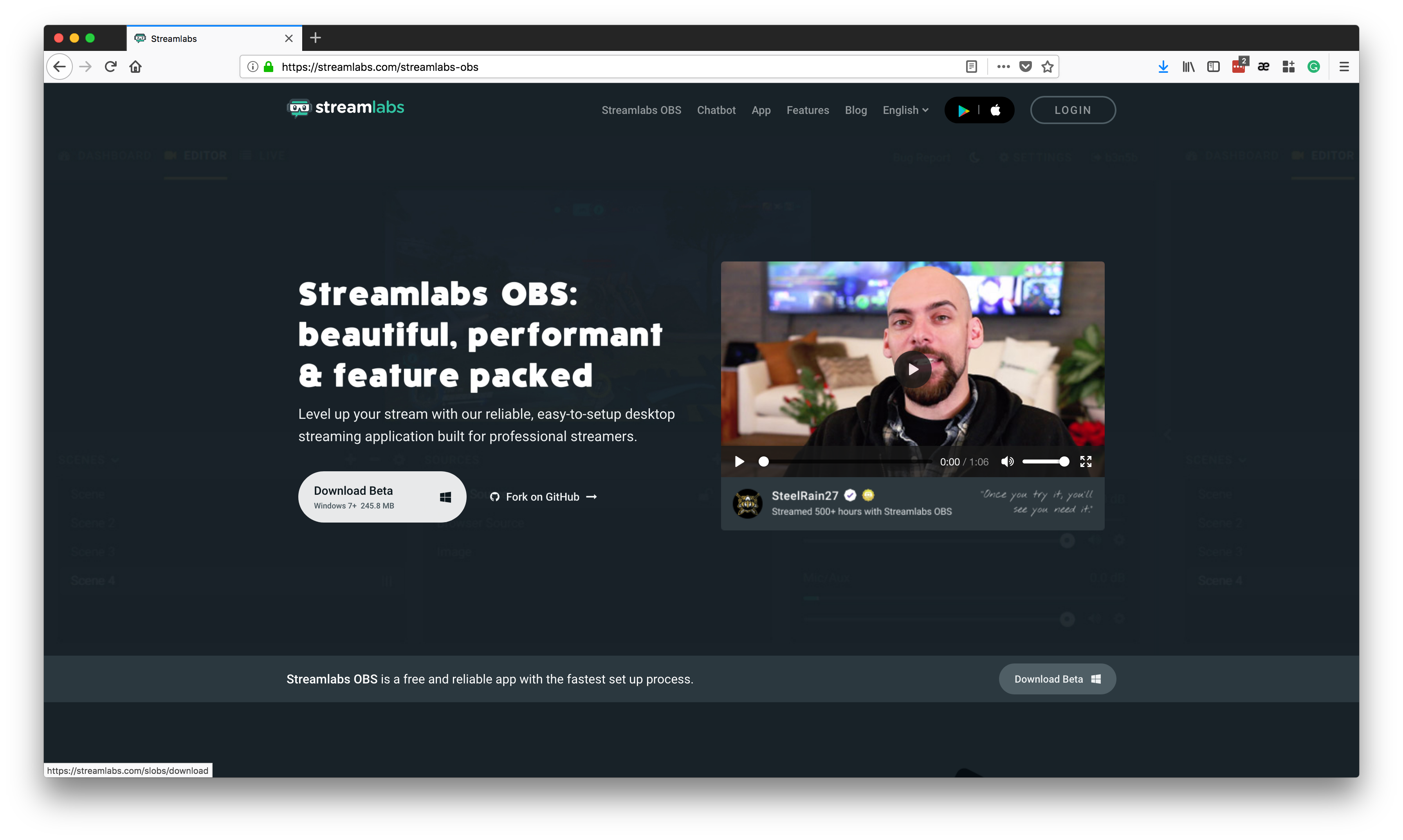 Obs transparent twitch chat. Setting up streamlabs with