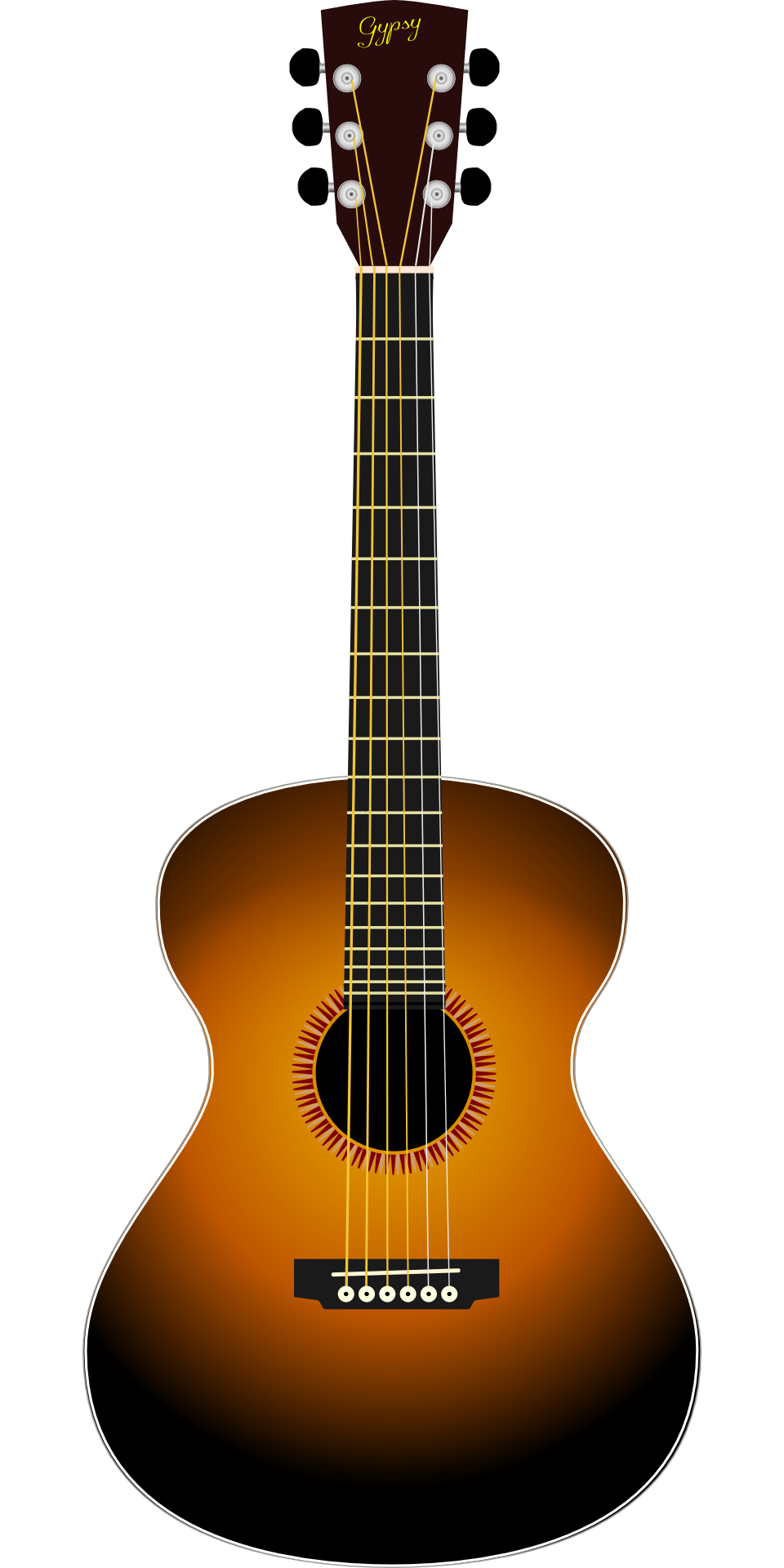 observation drawing acoustic guitar
