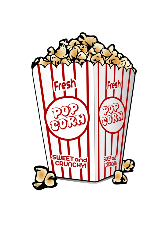 observation drawing popcorn