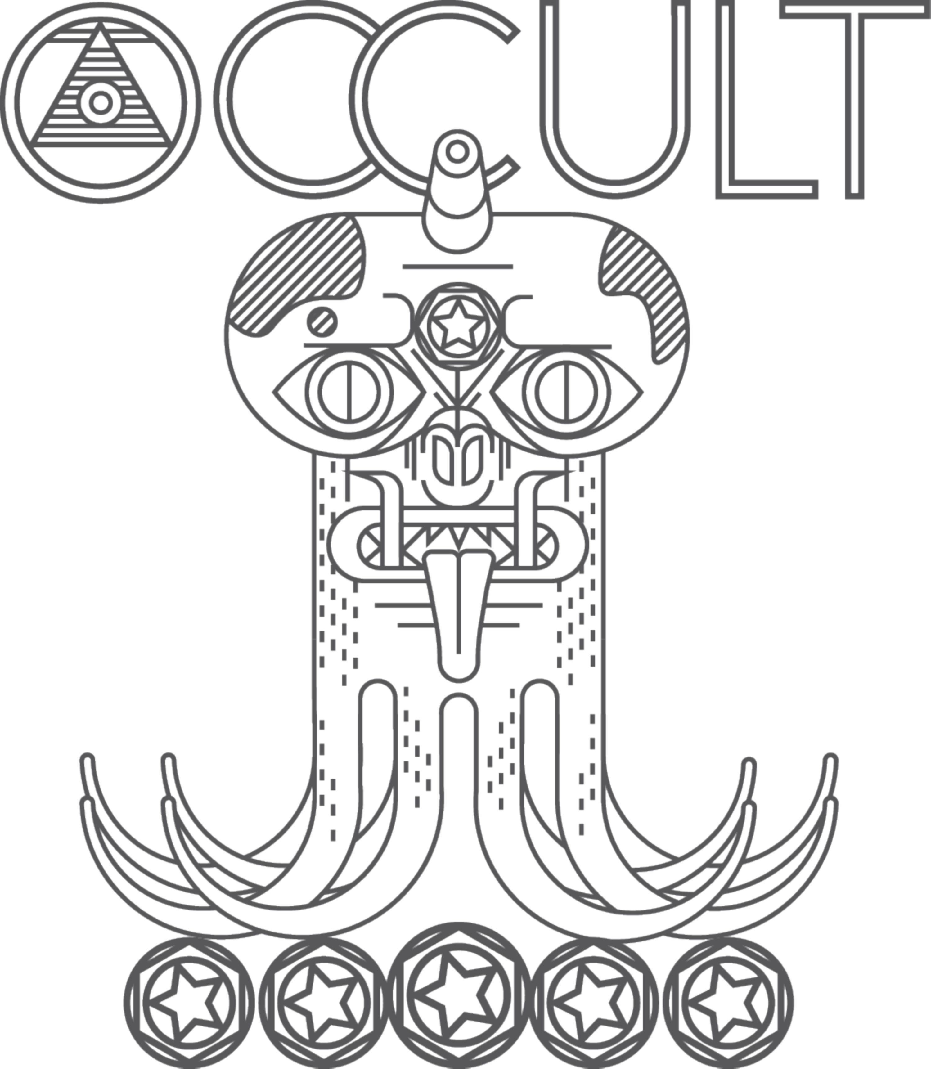 Occult drawing. The dots