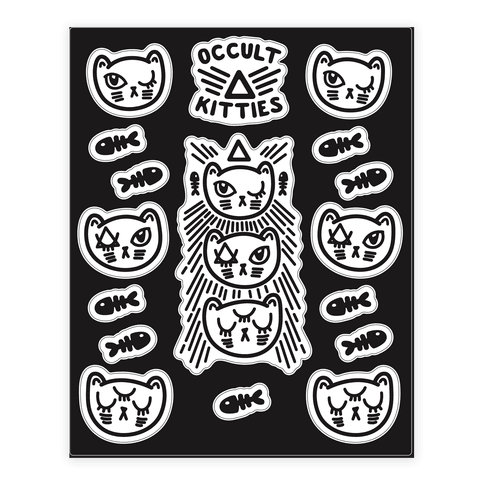Occult drawing. Sticker decal sheets lookhuman
