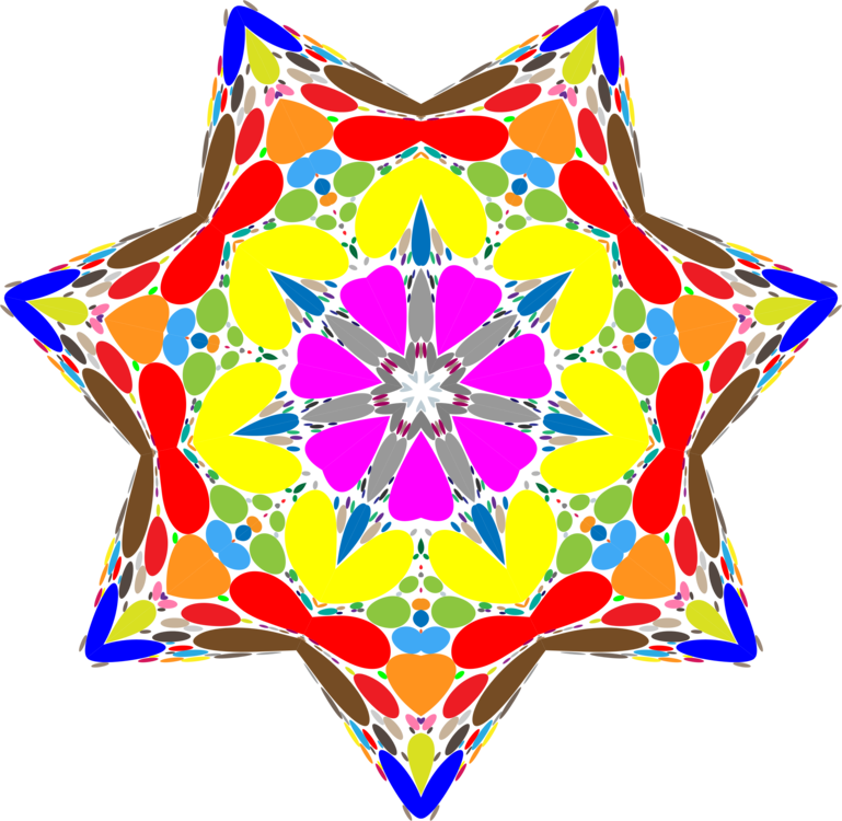 Occult drawing flower. The book of law