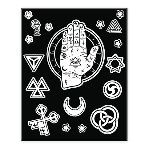 Occult drawing gothic. Hand sticker lookhuman pinterest