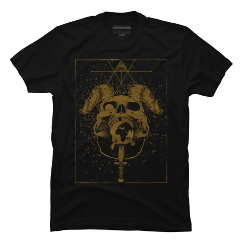Occult drawing deer. Collection t shirts tanks