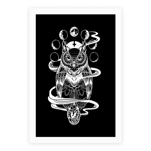 Occult drawing owl. Summon some style collection