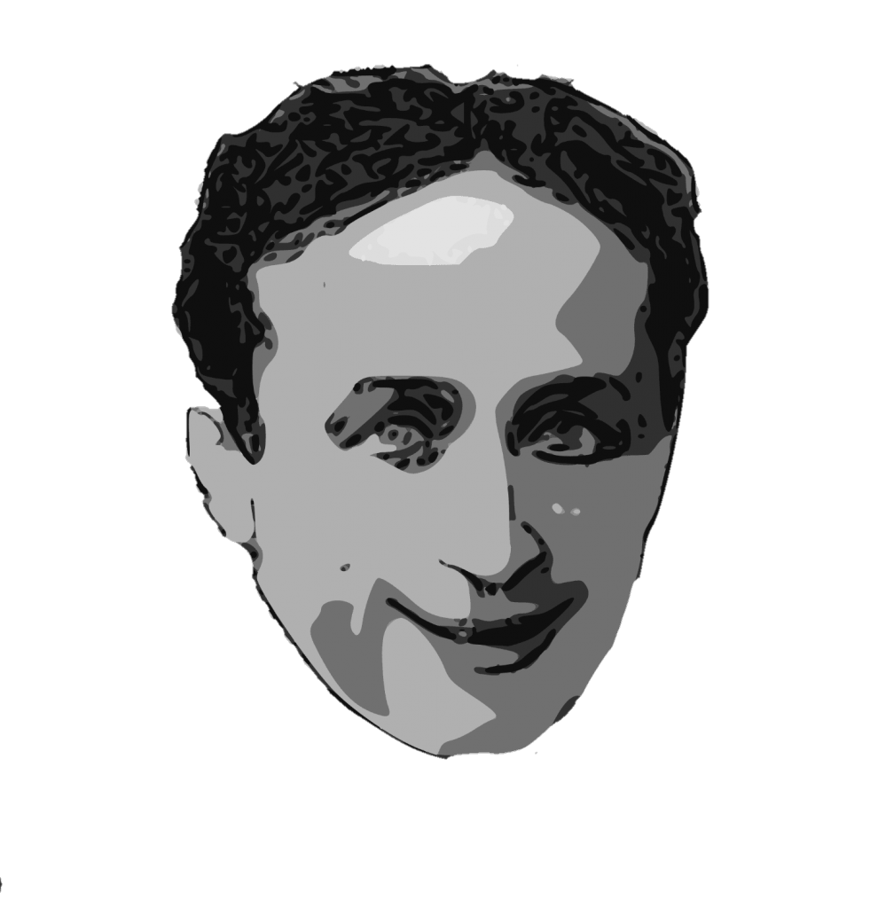 Occult drawing portrait. Harry houdini the handcuff