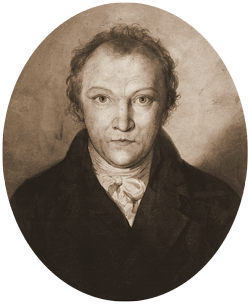 Occult drawing portrait. The poet william blake