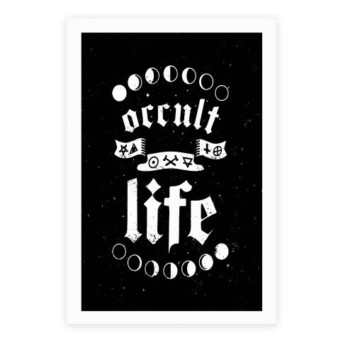 Occult drawing poster. Posters lookhuman life