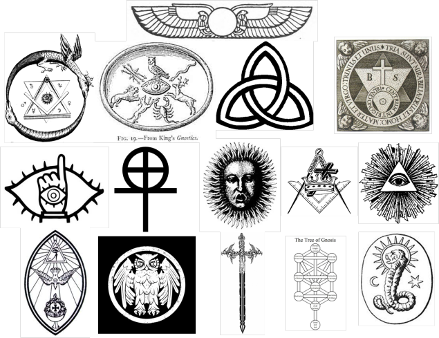 Occult drawing religious. Early pre christian signs