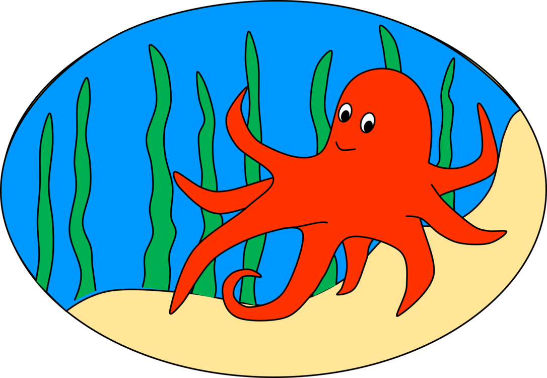 Octopus squid computer icons. Ocean clipart clip art royalty free stock