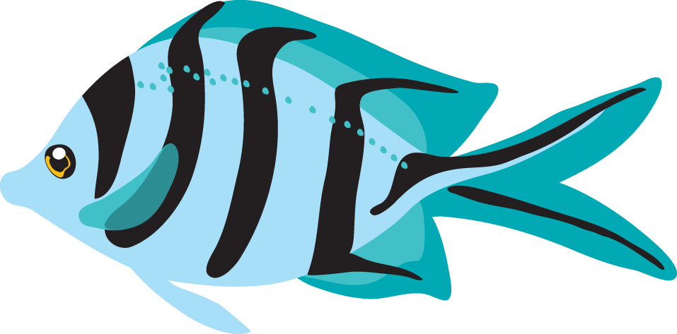 Ocean clipart fish. Tropical with clip art