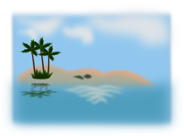 Ocean clipart png. Island in the clip