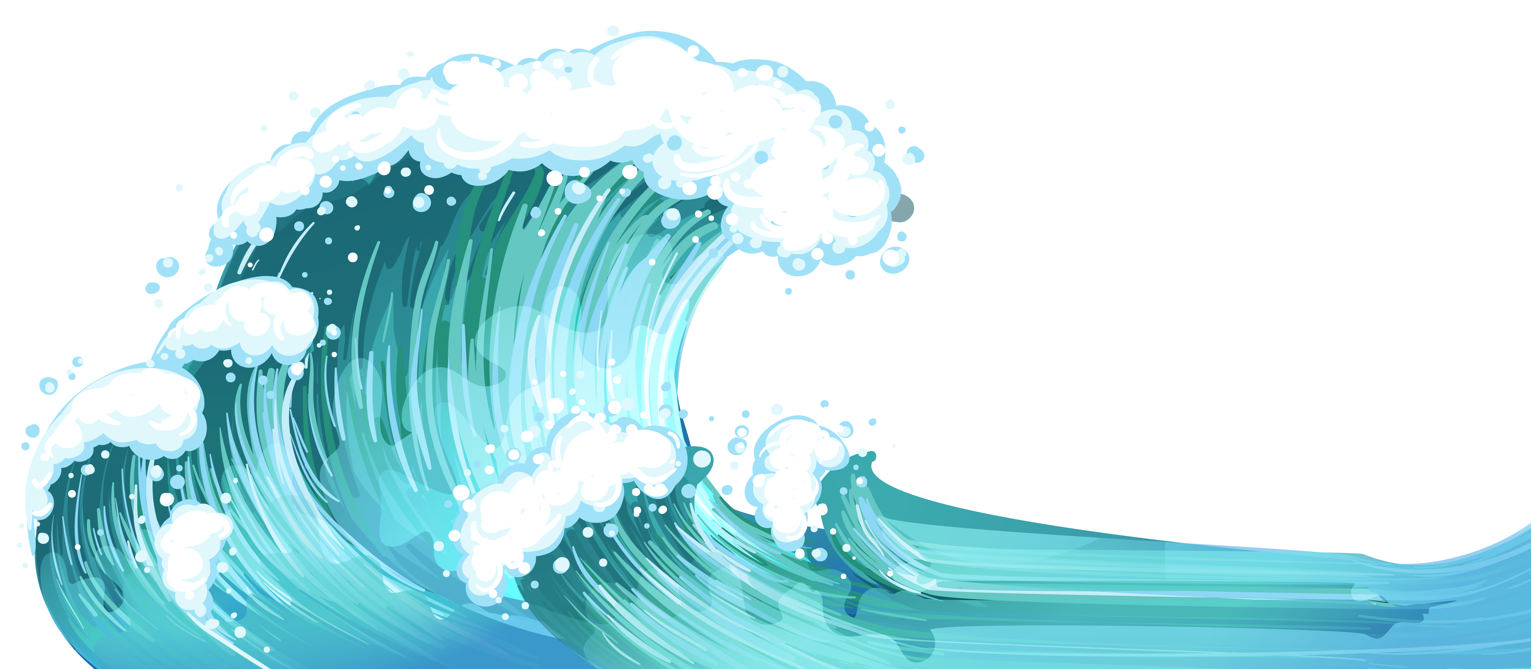 Ocean wave vector png. Waves clip art simple