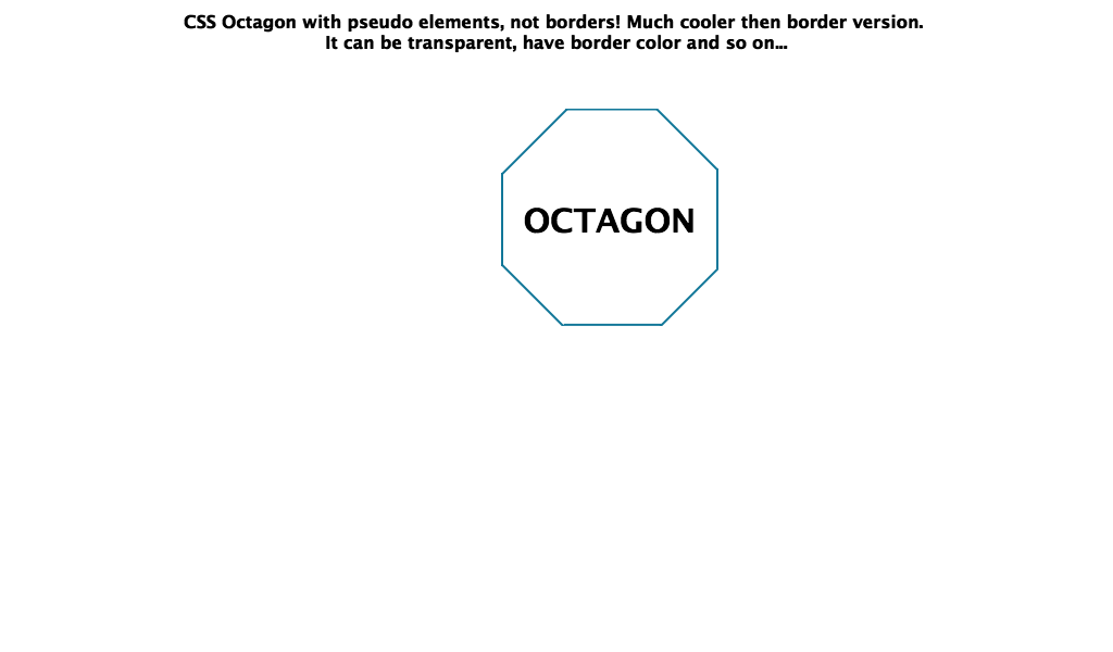 Octagon layout png. Css
