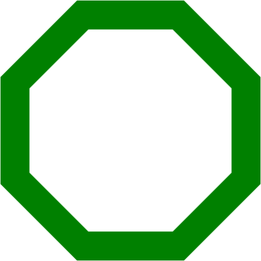 Octagon outline png. Green icon free icons