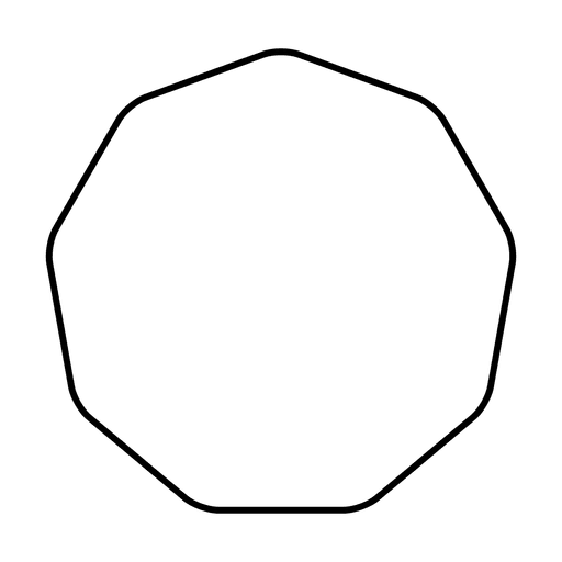Octagon shape png. Outline transparent svg vector