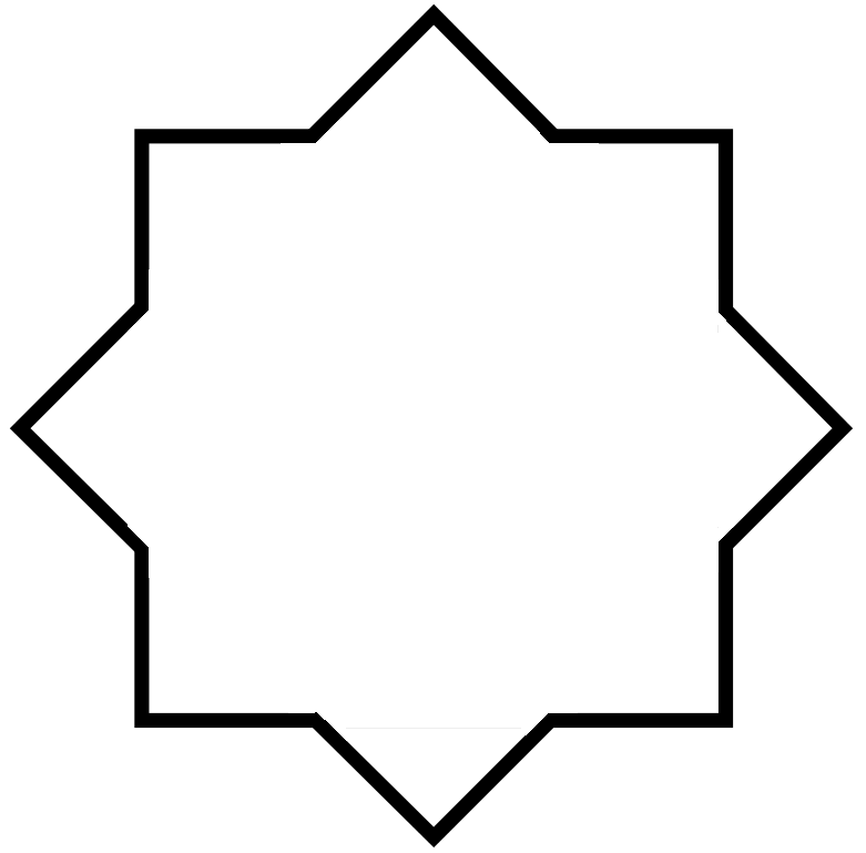 Octagon transparent pixel. File squared octagonal star