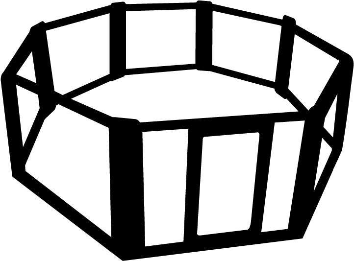Octagon transparent black. Download hd cage clipart