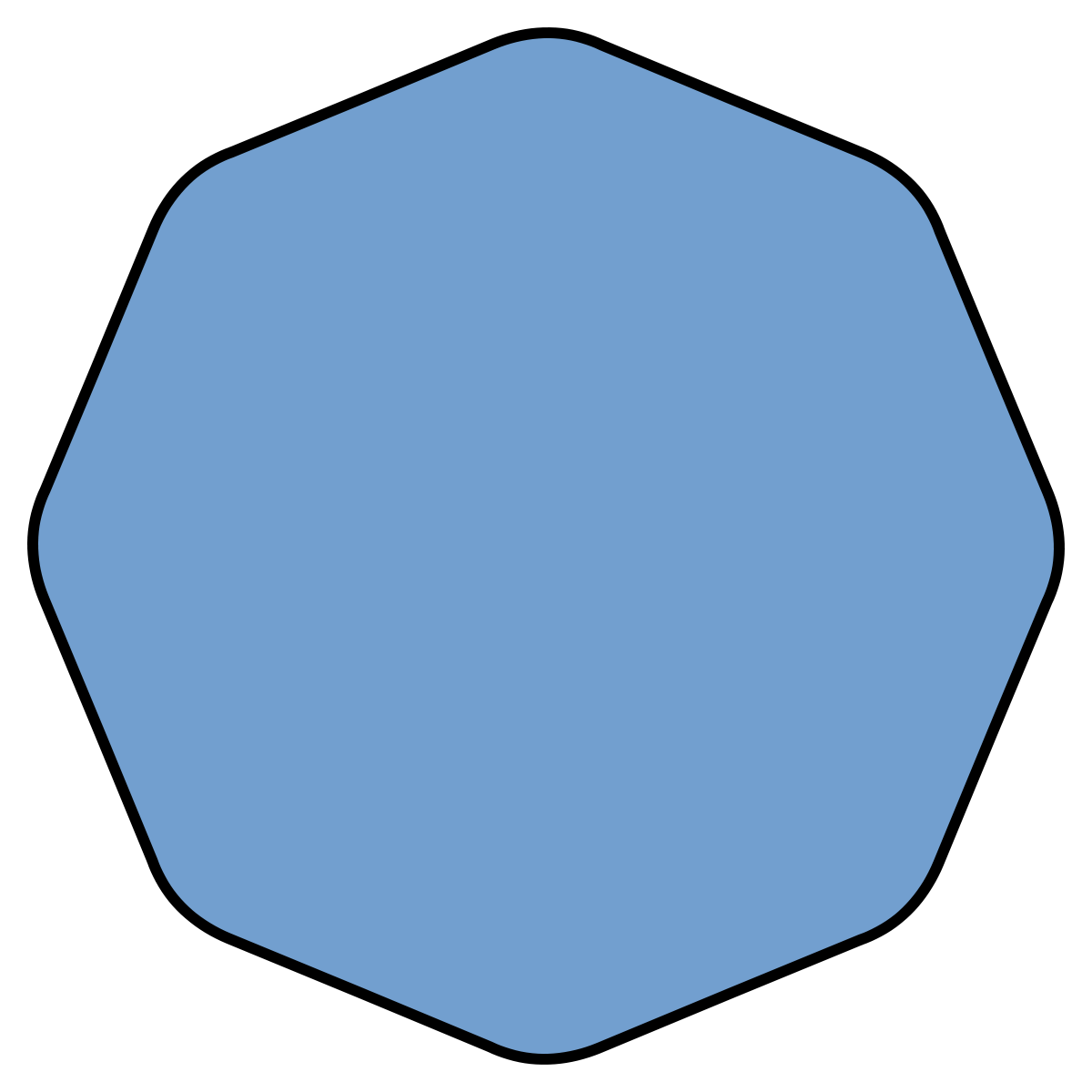 Octagon transparent figure. Smoothed wikipedia