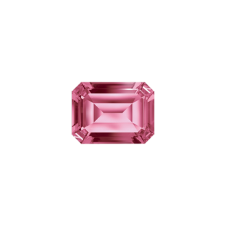 Octagon transparent pink. Swarovski genuine topaz cut