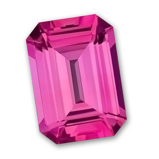 Octagon transparent pink. X mm gem