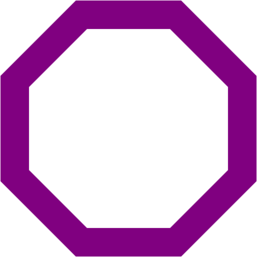 Octagon transparent purple. Outline icon free icons