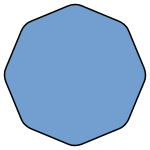 Octagon transparent rounded. Smoothed wikipedia