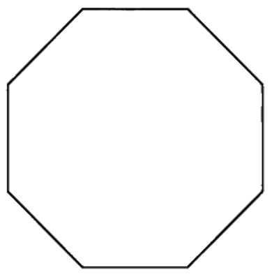 Octagon transparent white. Png stickpng