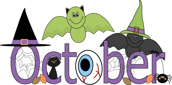 October clipart. Word