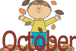 October clipart autumn. Free boy playing with