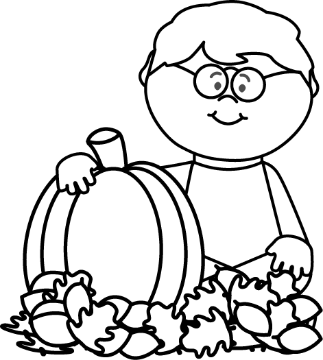 October clipart black and white. Fall clip art images