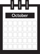 October clipart black and white. Search results for clip