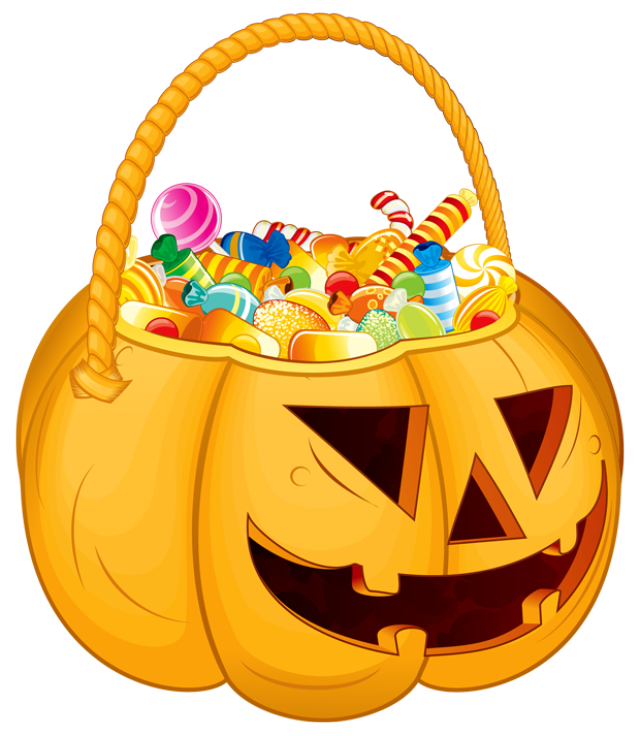 October clipart candy.