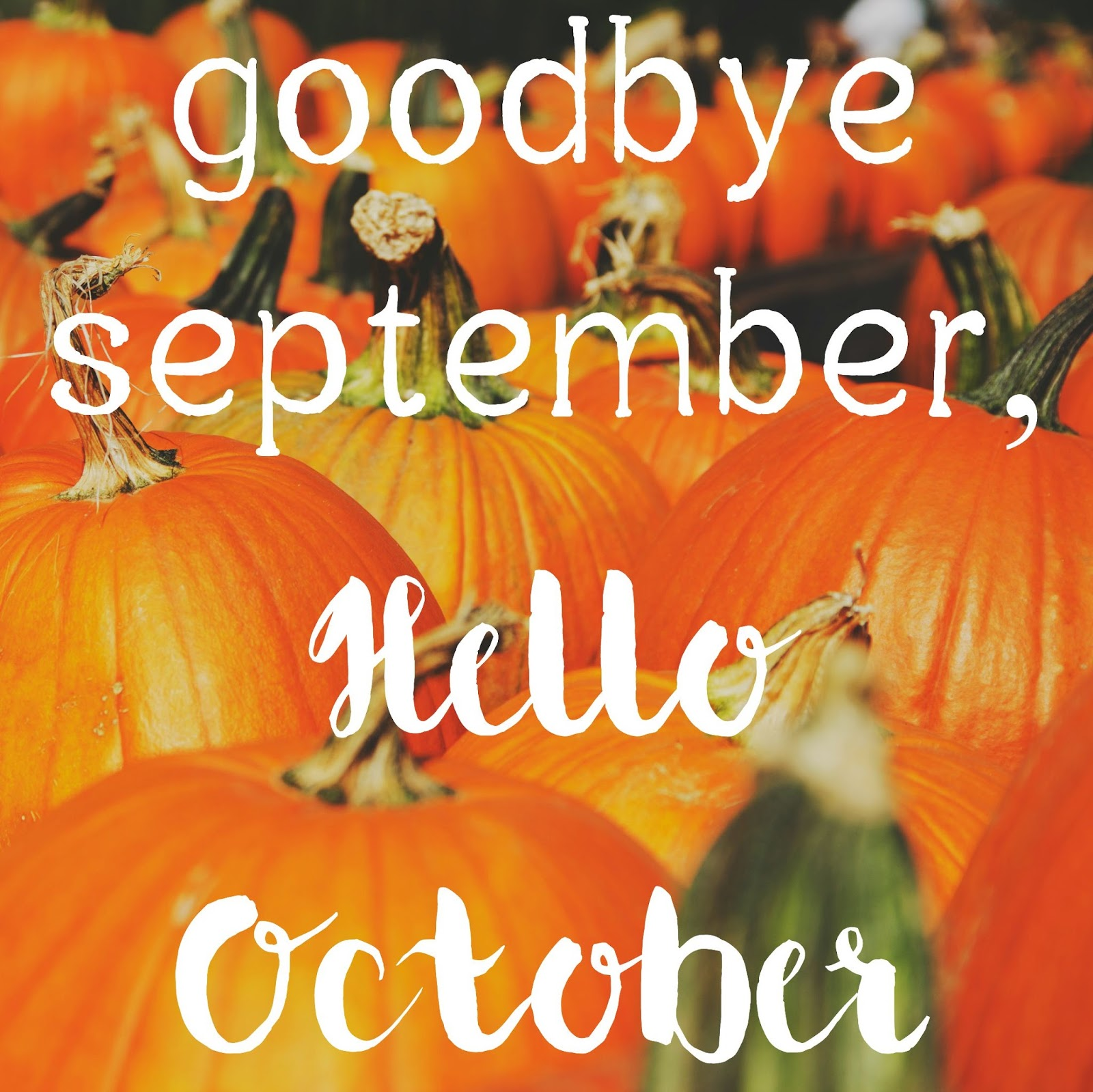 October clipart goodbye. September hello images