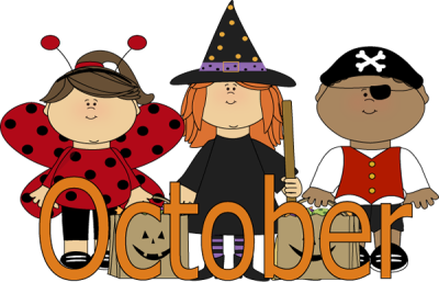October clipart kids. Collection of png
