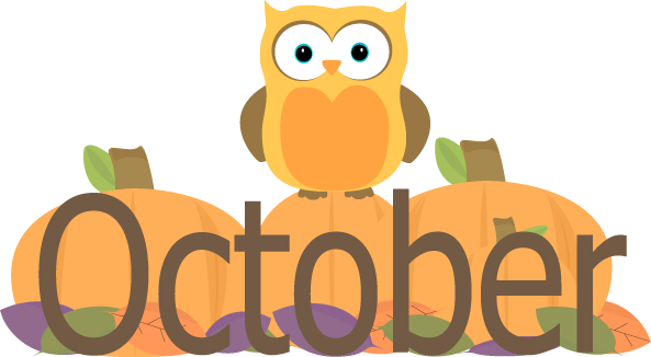 October clipart monthly. Pin by liz fisher