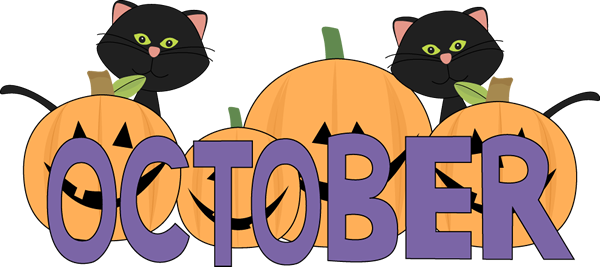 October clipart boarder. Month of clip art